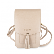 Сумка Guess для смартфонов Wallet Bag Saffiano look Beige (GUWBSSABE)