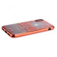 "Накладка силиконовая Beckberg Monsoon series для iPhone XS/ X (5.8"") со стразами Swarovski вид 1 Розовое золото"
