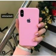 """Чехол """"Ultra Slim"""" для iPhone XS/ X (5.8), с вырезом для яблока, розовый"""