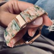 Ремешок керамический для Apple Watch 40мм/ 38мм, янтарный