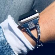 Ремешок со стразами из нержавеющей стали COTEetCI W18 Magnificent Band (CS2227-TS) для Apple Watch 40мм/ 38мм Серебристый