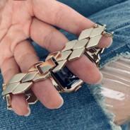 """Ремешок """"Плетение"""", для Apple Watch 40мм/ 38мм, золото, с класической застежкой, нержавеющая сталь"""