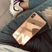 Идеальный чехол для золотого iPhone XS/ X, прозрачный с золотым оттенком, ультратонкий силиконовый