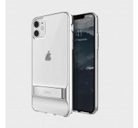Чехол-лед для iPhone 11 Pro Max, кристально-прозрачный с подставкой