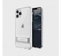 Чехол-лед для iPhone 11 Pro, кристально-прозрачный с подставкой