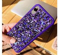 """Чехол-накладка силиконовая со стразами SWAROVSKI Crystalline для iPhone XS/ X (5.8"""") Ультрафиолет"""