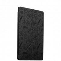 """Чехол-подставка Deppa Wallet Onzo для Apple iPad Pro (9.7"""") с тиснением (PU эко-кожа) 1.0мм D-88023 Темно-серый"""