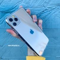 Чехол-кристалл для iPhone 11 Pro Max, противоударный кристально-прозрачный, уплотнённый силикон