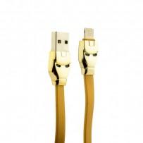 USB дата-кабель Hoco U14 Steel man Lightning (1.2 м) Золотой