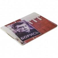 Чехол-книжка кожаный Jisoncase Executive Print для iPad 4/ 3/ 2 JS-IPD-06 с рисунком (тренд) Борис Немцов тип 001