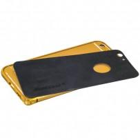 Бампер Jisoncase для iPhone 6s Plus/ 6 Plus (5.5) & наклейка кожаная JS-I6L-08P84+JS-I6L-14A10, metal+Genuine leather, Черный
