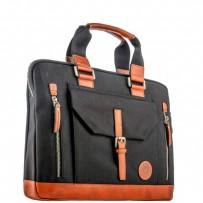 """Кейс для ноутбука до 15"""" i-Carer 390x284x70mm Business Handbag Briefcase Shoulder (RDN-03-B1) оранжево-черный"""