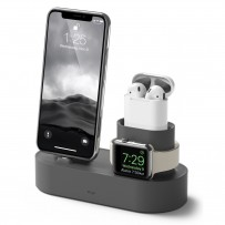 Док-станция Elago Charging Hub 3 in 1 (EST-TRIO-DGY) для устройств Apple (Dark grey)
