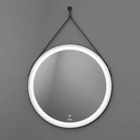Viken Black Зеркало с LED подсветкой, D650, сенсорное управление (черный ремень)