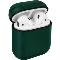 Чехол Uniq для Airpods 1/2 Terra Genuine Leather Olive