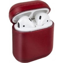 Чехол Uniq для Airpods 1/2 Terra Genuine Leather Red