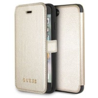 Чехол GUESS для iPhone 7/8 SE 2 Iridescent Booktype Gold/Black