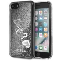 Чехол GUESS для iPhone 7/8 SE 2 Glitter Hard Hearts Silver