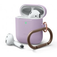 Чехол Elago для AirPods Gen 1 & 2 Slim silicone Hang case Lavender