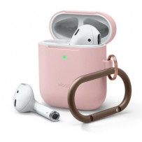 Чехол Elago для AirPods Gen 1 & 2 Slim silicone Hang case Lovely pink