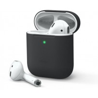 Чехол Elago для AirPods Gen 1 & 2 Slim Silicone case Black