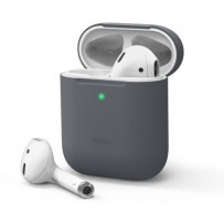 Чехол Elago для AirPods Gen 1 & 2  Slim Silicone case Dark grey