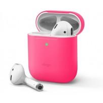 Чехол Elago для AirPods Gen 1 & 2 Slim Silicone case Neon hot pink (светится в темноте)