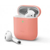 Чехол Elago для AirPods Gen 1 & 2 Slim Silicone case Peach
