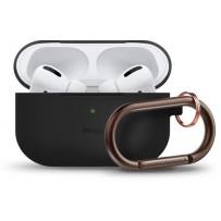 Чехол Elago для AirPods Pro Slim silicone Hang case Black