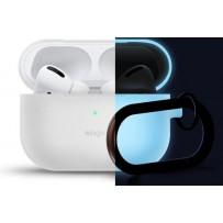 Чехол Elago для AirPods Pro Slim silicone Hang case Nightglow blue (светится в темноте синим)