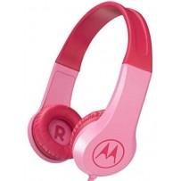 Детские, суперкрепкие наушники Motorola Squads 200 Pink 3.5mm