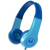 Детские, суперкрепкие наушники Motorola Squads 200 Blue 3.5mm
