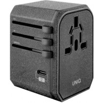 Сетевой адаптер Uniq СЗУ Voyage PD World Adapter для 150+ стран PD18W Black