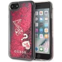 Чехол GUESS для iPhone 7/8 SE 2 Glitter Hard Hearts Raspberry