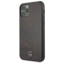Чехол Mercedes-Benz для iPhone 11 Pro Wood Hard Rosewood Brown