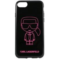 Чехол Karl Lagerfeld для iPhone 7/8/ SE (2020) Ikonik outlines Hard PC/TPU Black/Pink