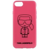 Чехол Karl Lagerfeld для iPhone 7/8/ SE (2020) Ikonik outlines Hard PC/TPU Pink/Black