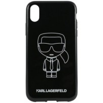 Чехол Karl Lagerfeld для iPhone XR Ikonik outlines Hard PC/TPU Black/White