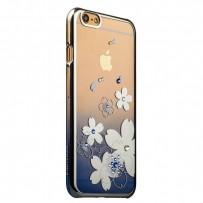 Чехол KINGXBAR для iPhone 6/6s, пластик со стразами Swarovski, серебристый.
