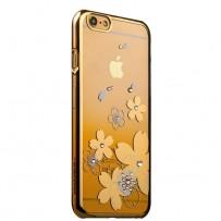Чехол KINGXBAR для iPhone 6/6s, пластик со стразами Swarovski, золотой.