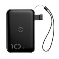 Аккумулятор внешний универсальный & беспроводное зарядное Baseus Mini S Bracket Wireless Charger (PPXFF10W-01) 10000 mAh Черный