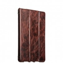 "Чехол кожаный i-Carer для iPad Pro (12.9"") Oil Wax Vintage Genuine Leather Folio Case (RID706coffe) Коричневый"