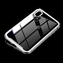 Чехол закаленное стекло с магнитной рамкой Magnetite Hardware для iPhone XS/ X Серебристый