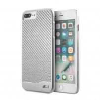 Чехол BMW для iPhone 7/8 PLUS M-Collection Aluminium&Carbon Hard Silver