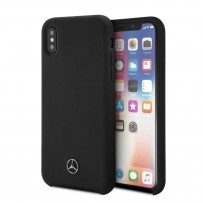 Чехол Mercedes-Benz для iPhone X/XS Silicone line Hard Black