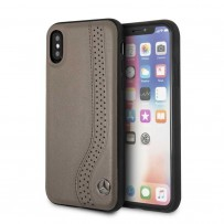 Чехол Mercedes-Benz для iPhone X/XS New Bow l Hard Leather Brown