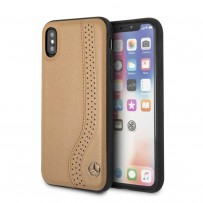 Чехол Mercedes-Benz для iPhone X/XS New Bow l Hard Leather Camel