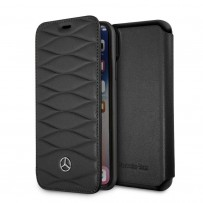 Чехол Mercedes-Benz Mercedes для iPhone X/XS Pattern lll Booktype Leather Black