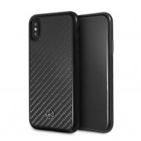 Чехол Mercedes-Benz для iPhone X/XS Dynamic Real carbon Hard Black