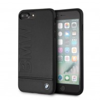 Чехол BMW для iPhone 7/8 PLUS Signature Logo imprint Hard Leather Black